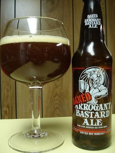 Arrogant Bastard Ale (Oak Barrel Aged)