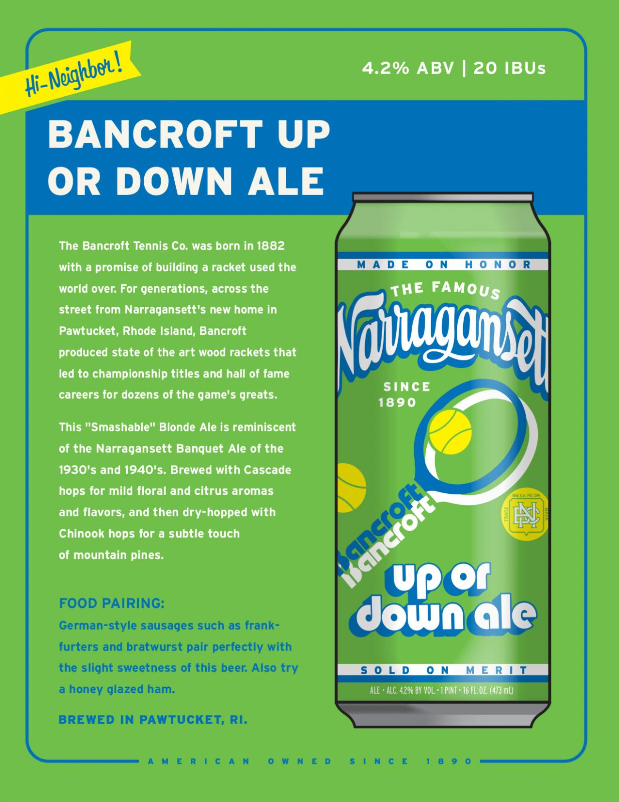Bancroft Up or Sown Ale
