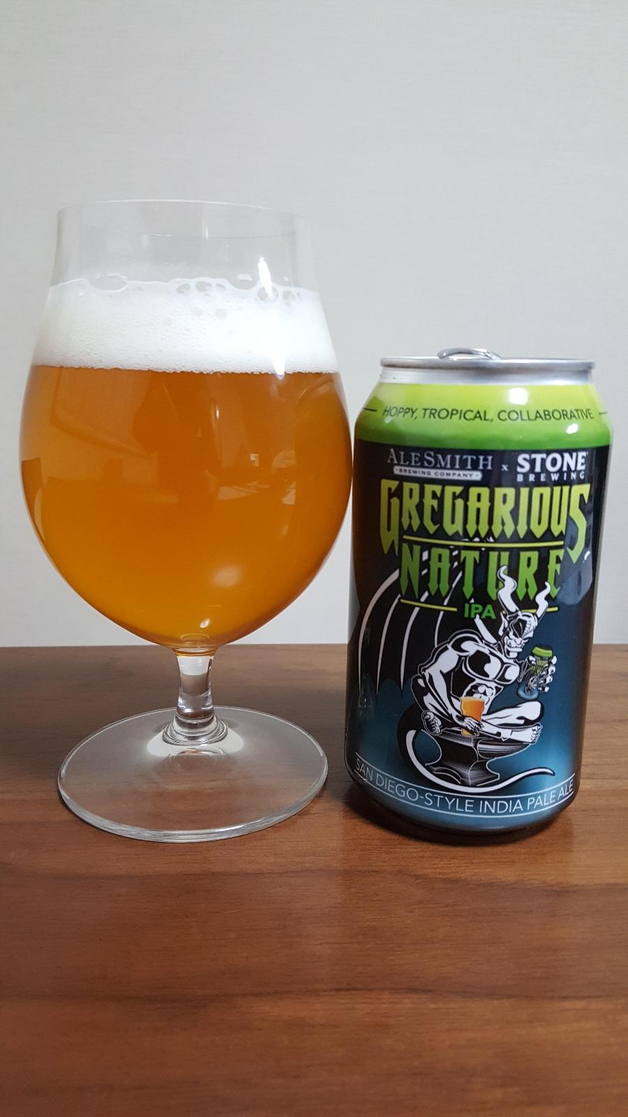 Gregarious Nature (Collaboration with Stone Brewing)